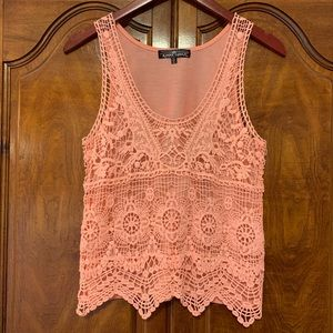 Almost Famous Crochet Lace Tank Top